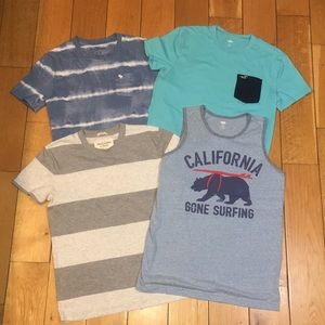 4 boys' XL summer shirts- Abercrombie & Hollister
